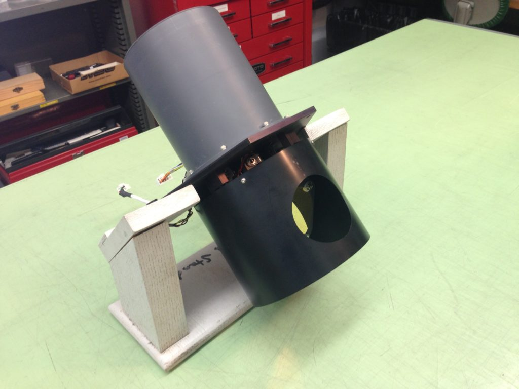 Figure 3: Removed mirror:motor assembly on holding fixture