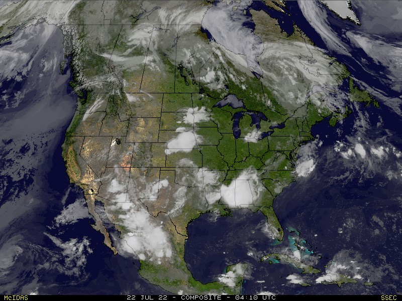 Real-Time U S  Composite Satellite Animation