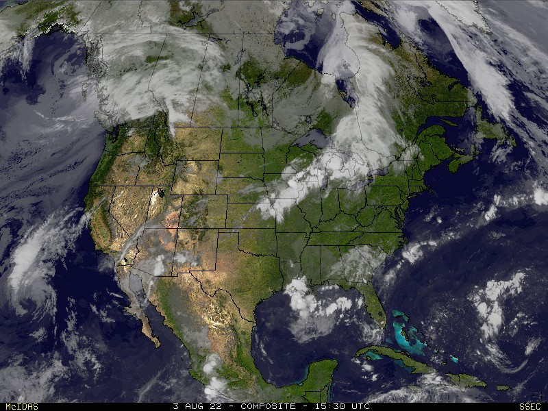Real Time US Composite Satellite Image