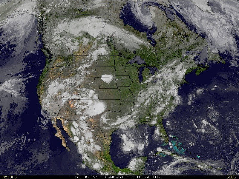 Satellite Map Of Georgia.Real Time U S Composite Satellite Image Ssec