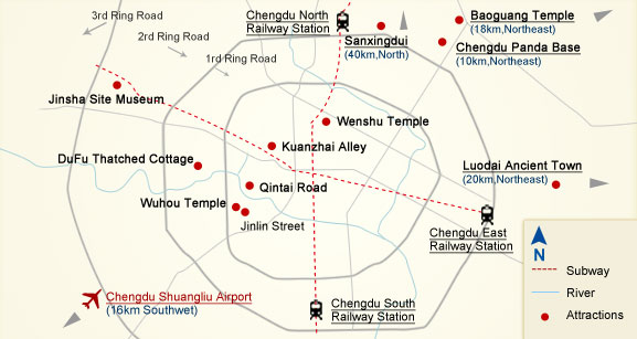 Map of Chengdu Region