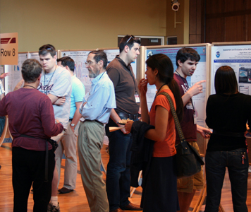 attendees of poster reception