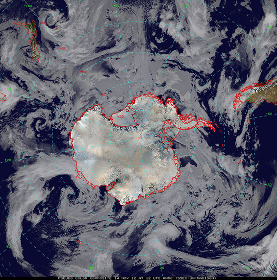 Today's Antarctic composite imagery, 14 November 2012.