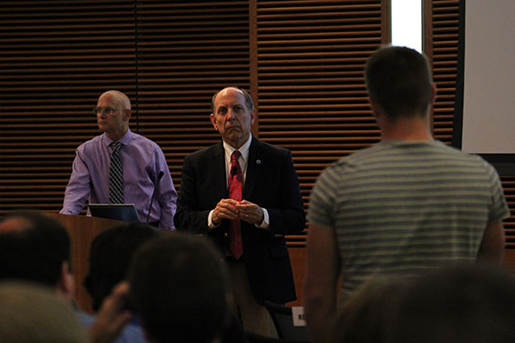 Dr. Uccellini listens to a question at the Weather-Ready Nation Town Hall. Photo credit: Bill Bellon