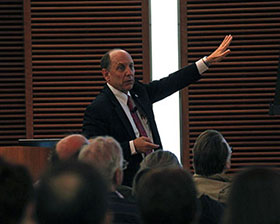 Dr. Uccellini presenting at the Weather-Ready Town Hall. Photo credit: Bill Bellon