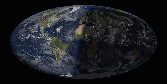 Composite image of the world, processed using McIDAS