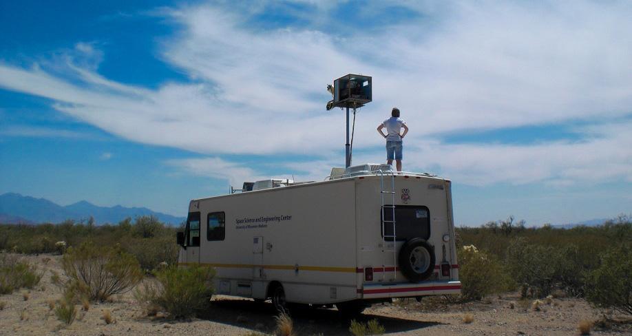 SSEC researcher Michelle Feltz in Tucson, AZ in May 2013.