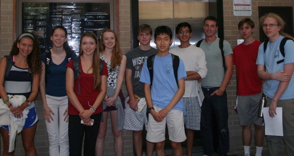 High school students participating in Madison Metropolitan School District's Science Research Internship Program toured the AOSS building in August. Students were paired up with UW-Madison researchers in various science departments, including SSEC. Photo Credit: Sarah Witman, SSEC.