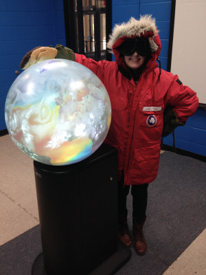 Antarctic cold-weather gear and a 3D globe are just two of the weather-themed activities available at this weekend's AOSS Open House. Credit: Rick Kohrs, SSEC.