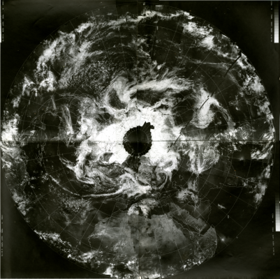 ESSA-9 image of Earth on April 22, 1970. Credit: Schwerdtfeger Library.