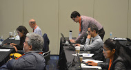 Jordan Gerth (pictured) and other SSEC/CIMSS scientists collaboratively instructed the course. Credit: SSEC.