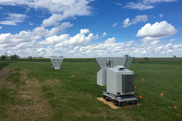 An Atmospheric Emitted Radiance Interferometer (AERI) operating during the Plains Elevated Convection At Night (PECAN) field campaign in 2015. Credit: Jon Gero, SSEC.