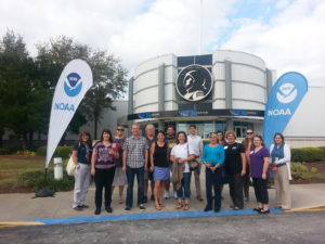 School teachers from around the country gathered at Kennedy Space Center in Florida to learn about GOES-R and share ways to bring meteorological science into the classroom. Photo by: Margaret Mooney CIMSS EPO